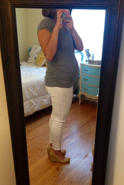 target maternity jeans, old navy maternity top,