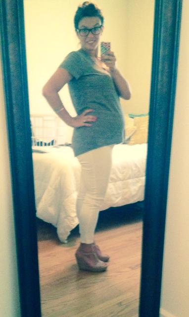 Target maternity jeans, Madewell tee