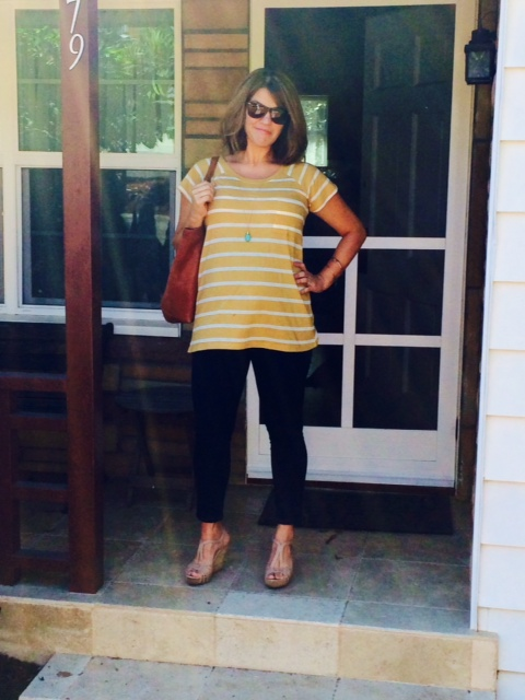 target maternity jeans * threads 4 thought  top * seychelles wedge
