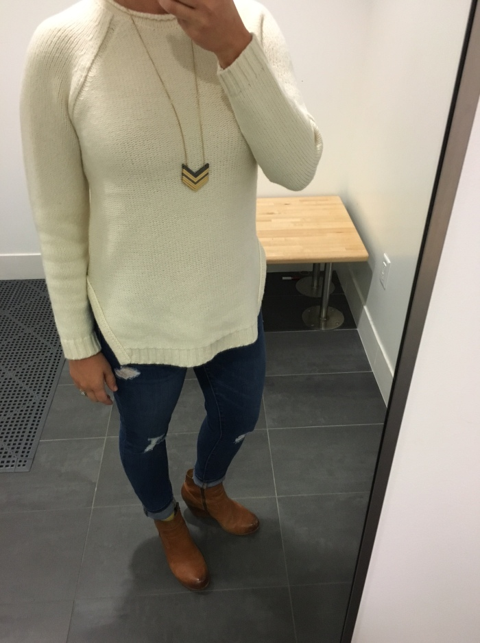 sweaters, jeans & boots